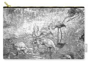 Flamingos Drawn Carry-all Pouch