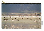 Flamingos Flying Over Water Carry-all Pouch