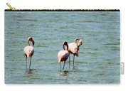 Flamingos Gathering Together Carry-all Pouch
