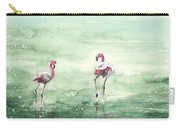 Flamingos In Camargue 02 Carry-all Pouch