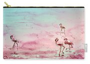 Flamingos In Camargue 03 Carry-all Pouch