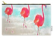 Flamingos On The Beach Carry-all Pouch