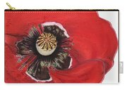 Flanders Poppy Triptych Carry-all Pouch