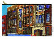 Flashback To Sixties Montreal Memories Baron Byng High School Vintage Landmark St. Urbain City Scene Carry-all Pouch by Carole Spandau