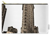 Flat Iron Building In Sepia Carry-all Pouch