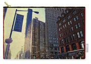 Flat Iron Building Poster Carry-all Pouch by Nishanth Gopinathan