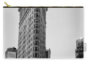 Flat Iron In Black And White Carry-all Pouch by Bill Cannon