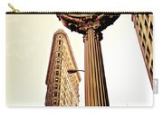 Flatiron Building And 5th Avenue Clock Carry-all Pouch
