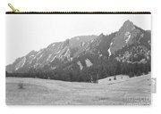 Flatirons Boulder Colorado Winter View Bw Carry-all Pouch