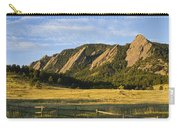 Flatirons From Chautauqua Park Carry-all Pouch by James BO  Insogna