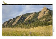 Flatirons With A Purple Wildflower  Carry-all Pouch