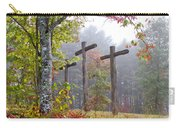 Flax Creek In The Fog Carry-all Pouch by Debra and Dave Vanderlaan