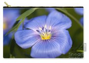 Flax Flower Carry-all Pouch
