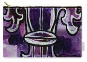 Fleur De Lis Purple Abstract Carry-all Pouch