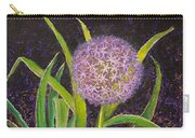 Fleur D Allium With Iris Leaves Backup Carry-all Pouch