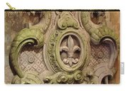 Fleur D Lis Wall Relief Carry-all Pouch