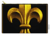 Fleur De Lis In Black And Gold Carry-all Pouch