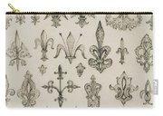 Fleur De Lys Designs From Every Age And From All Around The World Carry-all Pouch