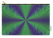 Flight Of Fancy Fractal In Green And Purple Carry-all Pouch