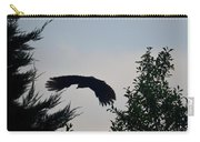 Flight Of The Black Crow Carry-all Pouch