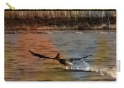 Flight Of The Pelican-featured In Wildlife-newbies And Comfortable Art Groups Carry-all Pouch