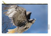 Flight Of The Red Tail Square Carry-all Pouch by Bill Wakeley