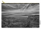 Flightpath-black And White Carry-all Pouch