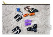 Flip Flops On The Beach Carry-all Pouch