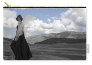Flirty Fairy Black And White Carry-all Pouch