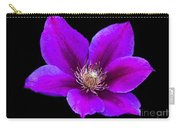 Floating Clematis Carry-all Pouch