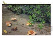 Floating Leaves By George Wood Carry-all Pouch