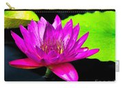 Floating Purple Water Lily Carry-all Pouch