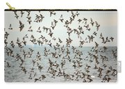 Flock Of Dunlin Carry-all Pouch by Karol Livote