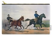 Flora Temple And Lancet Racing On The Centreville Course Carry-all Pouch by Currier and Ives