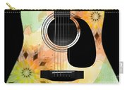 Floral Abstract Guitar 14 Carry-all Pouch