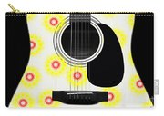Floral Abstract Guitar 22 Carry-all Pouch