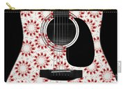 Floral Abstract Guitar 24 Carry-all Pouch