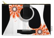 Floral Abstract Guitar 32 Carry-all Pouch