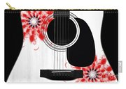 Floral Abstract Guitar 33 Carry-all Pouch