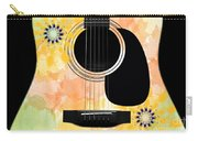 Floral Abstract Guitar 37 Carry-all Pouch