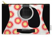 Floral Abstract Guitar 8 Carry-all Pouch