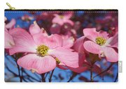 Floral Art Print Pink Dogwood Tree Flowers Carry-all Pouch