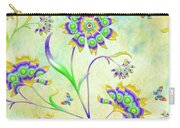 Floral Flirty And Fun  Carry-all Pouch