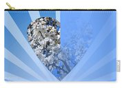 Floral Half Heart Carry-all Pouch
