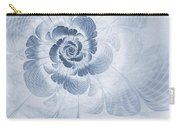 Floral Impression Cyanotype Carry-all Pouch