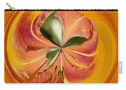 Floral Orange Orb Carry-all Pouch