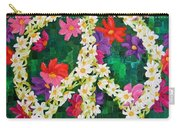 Floral Peace Pop Art Carry-all Pouch
