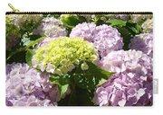 Floral Pink Lavender Hydrangea Garden Art Prints Carry-all Pouch
