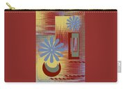 Floral Still Life In Red Carry-all Pouch