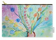 Floral Stream Carry-all Pouch